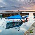 Beadnell Harbour Sunset by Richard Burdon