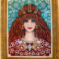 Sarah Goldberg Beauty Queen. Beadwork by Sofia Metal Queen