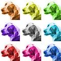 Beagle Dog Art- 6896 - Wb - M by James Ahn