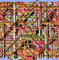 Beams Abstract Art by Ely Greenhut
