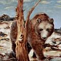 Bear And Stump by Terry Lewey