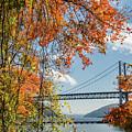 Bear Mountain Bridge Fall Color by Chris Augliera