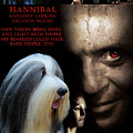 Bearded Collie Art Canvas Print - Hannibal Movie Poster by Sandra Sij
