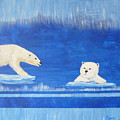 Bears In Global Warming by Monika Shepherdson