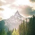 Beartooth Mountain Peak In Morning Light by Dan Sproul