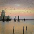 Beau Rivage Lighthouse And Marina by Scott Cameron