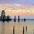 Beau Rivage Marina And Lighthouse by Scott Cameron