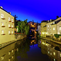 Beautiful Alzette River Side Scene On Road Rue Munster by Chon Kit Leong