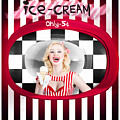 Beautiful Blonde Woman Serving Ice Cream by Jorgo Photography - Wall Art Gallery