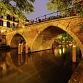 Beautiful Bridge Weesbrug Over The Old Canal In Utrecht At Dusk 220 by Merijn Van der Vliet