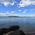 Beautiful Calm Ocean Water's In Casco Bay Maine by DejaVu Designs