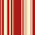 Modern Christmas Stripe Pattern Series Red Currant, Cream, Blush by Tina Lavoie