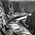Beautiful Colorado River Page Arizona Blk Wht  by Chuck Kuhn