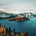 Beautiful Crater Lake by Jeff Hopper