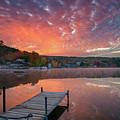 Beautiful Fall Sunrise At Long Lake by Darylann Leonard Photography