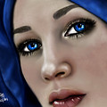 Beautiful In Blue Version 2 by Maria T Martinez