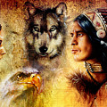 Beautiful Painting Of An Young Indian Man And Woman  Accompanied by Jozef Klopacka