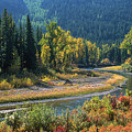Beautiful River Bottom In Vivid Autumn Colors by Jerry Voss