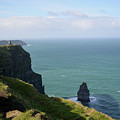 Beautiful Rocky Towering Sea Cliffs Along The Cliff's Of Moher by DejaVu Designs
