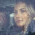 Beautiful Sad Woman In The Car by Anna Om