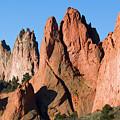Beautiful Sandstone Spires In Garden Of The Gods Park by Steve Krull