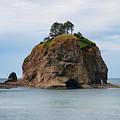 Beautiful Sea Stack Washington Coast by Dan Sproul