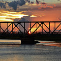 Beautiful Sunset Bridge  by Ken Figurski