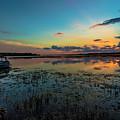 Beautiful Sunset By The Lake by Wanida Bradbury