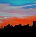 Beautiful Sunset Oil Paint by Akin Samuel