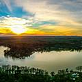Beautiful Sunset Over Lake Wylie South Carolina by Alex Grichenko