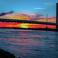 Beautiful Sunset Under The Bridge by Amy Bishop