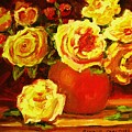 Beautiful Yellow Roses by Carole Spandau