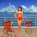 Beauty From The 50s In Bikini  by Monika Juengling