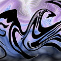 Beauty Is Wild In Spirit by Abstract Angel Artist Stephen K