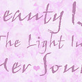 Beauty Of A Woman Typography Art by Isabella Howard