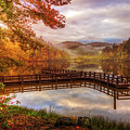 Beauty Of The Lake In Autumn Deep Tones by Debra and Dave Vanderlaan