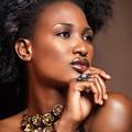 Beauty Portrait Of Black Woman Wearing Jewelry by Oleksiy Maksymenko