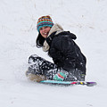 Beauty Sliding Backwards With A Smile by Cary Leppert