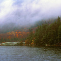 Beaver Pond Kinsman Notch Autumn Storm by John Burk