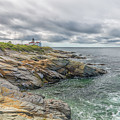 Beavertail Lighthouse On Narragansett Bay by Brian MacLean