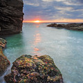 Beavertail Sunset by Bryan Bzdula