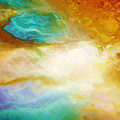 Becoming - Abstract Art - Triptych 2 Of 3 by Jaison Cianelli
