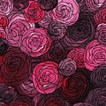 Bed Of Roses With Black Lace by Barbara St Jean