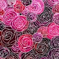 Bed Of Roses With White Lace by Barbara St Jean