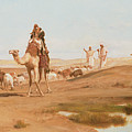 Bedouin In The Desert by Frederick Goodall