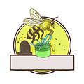 Bee Carrying Gift Box Skep Circle Drawing by Aloysius Patrimonio
