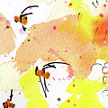 Bee Leave Me Macro Watercolor And Ink 2 by Ginette Callaway