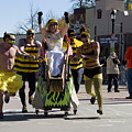 Bee Team At Aemma Crawford Coffin Races In Manitou Springs Colorado by Steve Krull