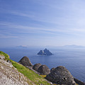 Beehive Stone Huts, Skellig Michael County Kerry Ireland by Peter Barritt