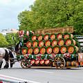 Beer Barrels On Cart by Bernard Barcos